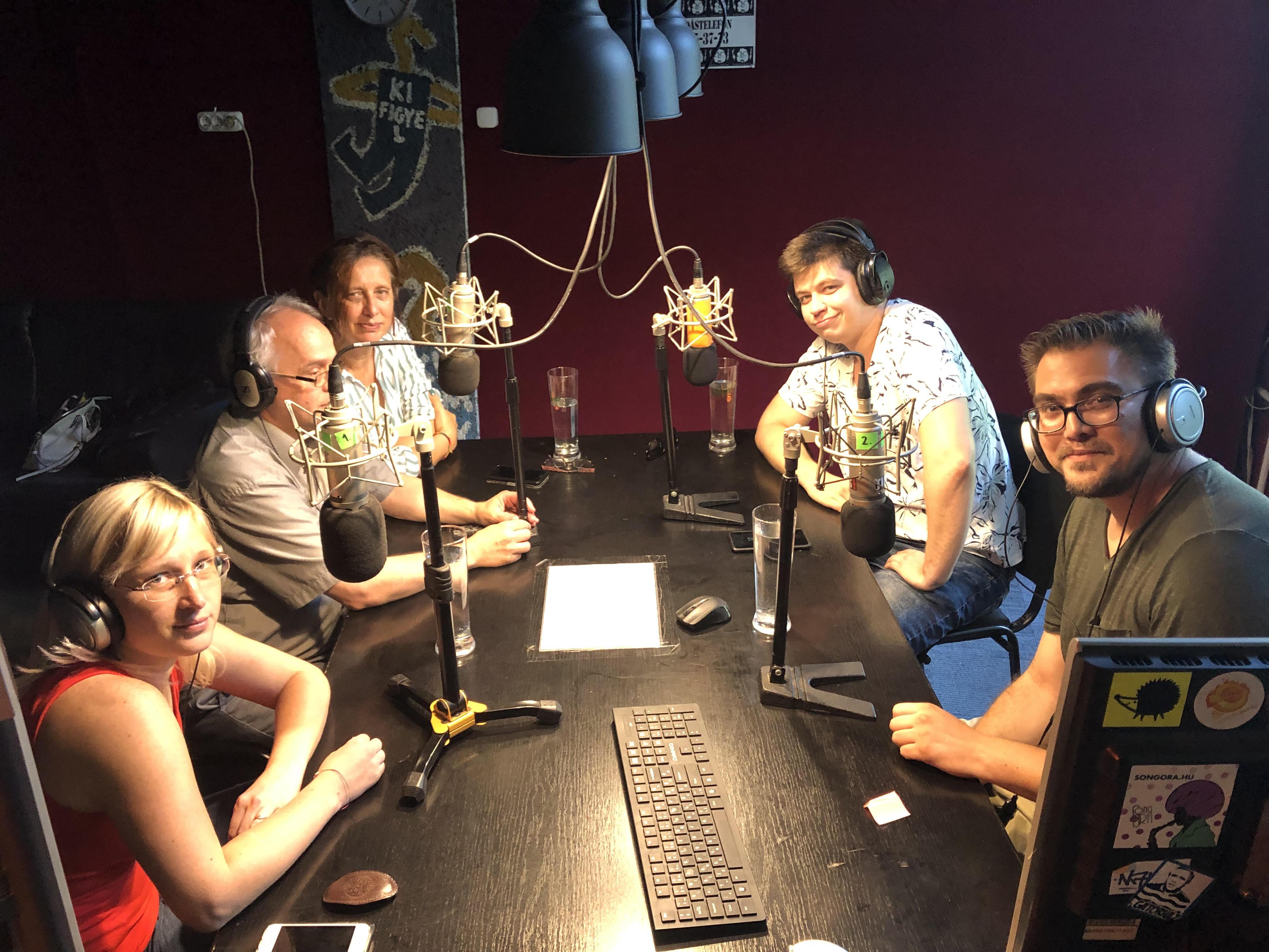 Katus Eszter, Horn Gabriella, Bátorfy Attila és Horváth András a Tilos rádióban, 2019.08.27.